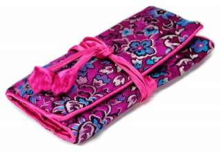SILK JEWELRY TRAVEL BAG Roll Case Pouch Carrying Brocade Fabric
