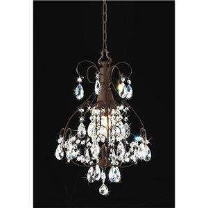 CRYSTAL CEILING CHANDELIER MINI PENDANT FIXTURE LIGHTING LAMP