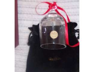 Classic Rosenthal Crystal Handmade Christmas Bell Holiday Ornament