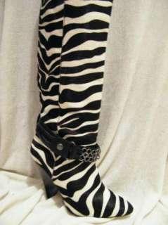 BEBE SHOES sandals heel platform BOOTS LUCA zebra 36 6
