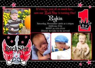 Little Rebel First Birthday Party Invitation
