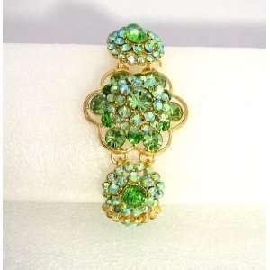 Prom Crystal Rhinestone Rose Flower Bracelet 04