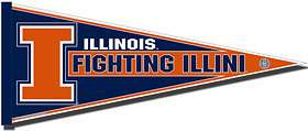 Illinois Fighting Illini Pennant New NCAA Full Size