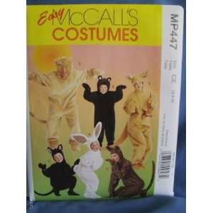Easy McCalls Costumes MP447 Kids Animal Patterns size CE