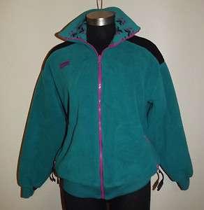 Vintage Columbia Sportswear Zipper Front Fleece Jacket Coat Womens