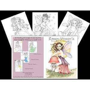Caron Vinsons Fairy Fun Coloring Book