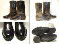 American West Black Cowboy Western Boots Men Size 8 D Used