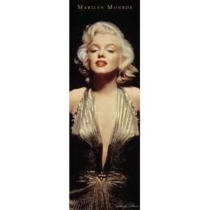 Marilyn Monroe Gold Dress Door Poster