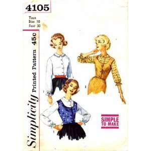 Pattern Blouses and Weskit Size 10   Bust 30: Arts, Crafts & Sewing