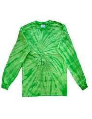 Tie Dye Long Sleeve T Shirt ~ High Quality Cotton ~ Spider Lime