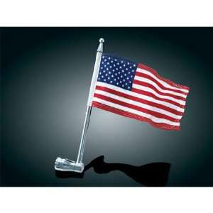 Luggage Rack Flag Pole & American Flag For Harley Davidson Automotive