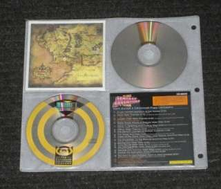 New 528 Disc Black Canvas CD DVD Metal 3 Ring Storage Wallet Binder