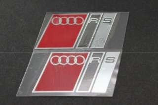 S15 2PCS RS METAL TRUNK EMBLEM BADGE DECAL STICKER A3 A4 A5 A6 A8 S4