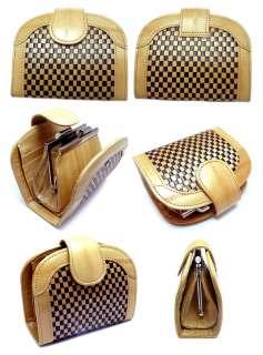 Luxury Genuine Eel skin Leather NET Halfmoon Wallet with Coin Purse