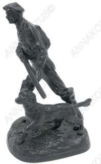 Russian SOVIET CAST IRON Sculpture Hunter Hunting Setter 1975