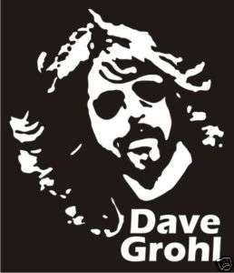 Dave Grohl Decal Sticker   Car Truck Window Laptop