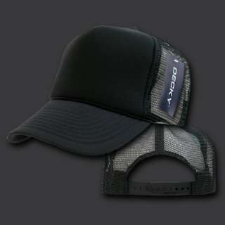 Black Classic Mesh Trucker Baseball Cap Caps Hat Hats