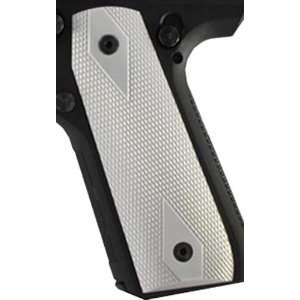 Hogue Ruger 22/45 RP Grip Checkered Aluminum Brushed Gloss