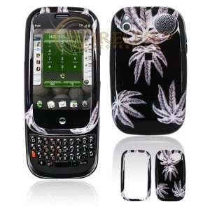 Black with White Weed Marijuana Leaf Design Snap On Cover