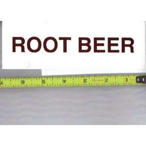 Large Rectangle Size Generic Root Beer Logo Soda Vending