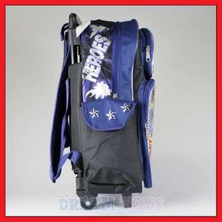 16 Justice League Rolling Backpack Roller/Bag/Superman