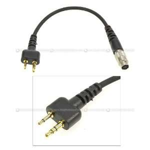 Devgru Radio Connector 2 Pin for ICOM/Vertex/ Alinco/Maxon/ Standard