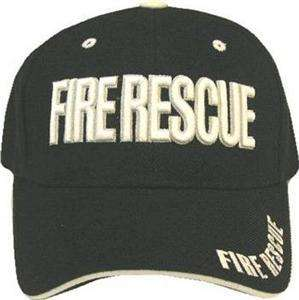 FIRE RESCUE ,FIRE DEPT,DEPARTMENT,BALL CAP,HAT,BLACK