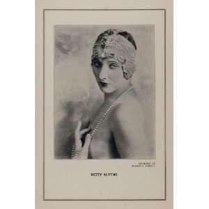 1927 Silent Film Star Betty Blythe Ernest Cowell Print