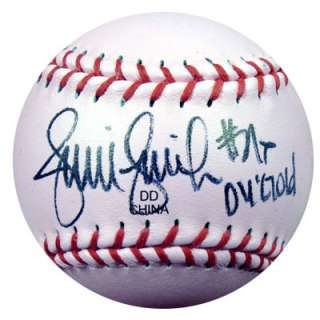 FINCH AUTOGRAPHED SIGNED PINK TRUMP SOFTBALL 4 GOLD PSA/DNA