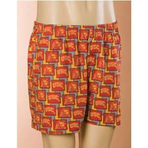 Trojans NCAA Mens Pattern 2 Boxer Shorts (Small) Sports & Outdoors