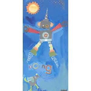 Oopsy daisy Jumping Robot Wall Art 18x36 Home & Kitchen