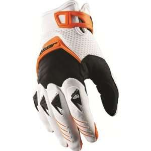 Thor MX Deflector Mens Dirt Bike Motorcycle Gloves   Orange / Large