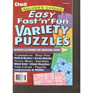Dell Solvers Choice Easy Fast N Fun Variety Puzzles
