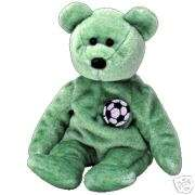 Ty Retr Beanie Baby~ Kicks the Soccer Bear ~ MWMT