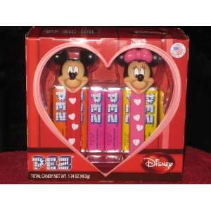 Disney Mickey & Minnie Valentines Day PEZ Set  Grocery