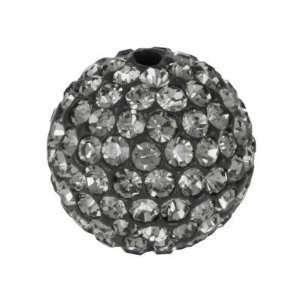 14mm Round Black Diamond Rhinestone Pavé Balls Arts, Crafts & Sewing