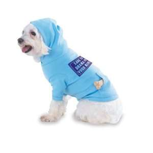 Hooded (Hoody) T Shirt with pocket for your Dog or Cat MEDIUM Lt Blue