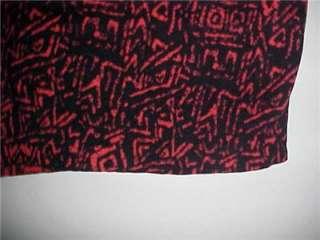 Bleyle Black/Red Print 100% Silk Sweater Medium NWT