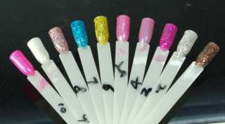 15ML Glitter Fashion Colour Nail Art Soak Off UV Gel Polish 30 color