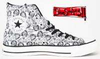 RARE CONVERSE CHUCK TAYLOR OZZY DOODLES SHOES 11 MENS BLACK SABBATH