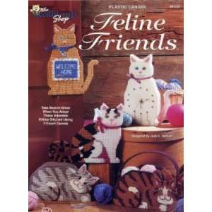 PLASTIC CANVAS FELINE FRIENDS BOOK LEAFLET PAMPHELT: Arts