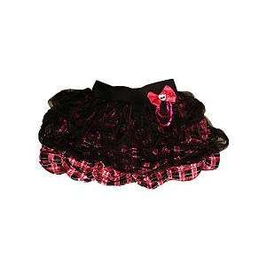Monster High Draculaura Plaid Skirt with Lace Overlay and