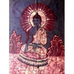 Lord Buddha Indian Gods Yoga & Meditation Fabric Tapestry Batik