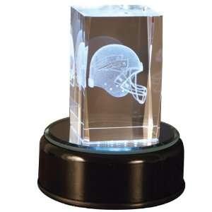 New England Patriots Helmet Cube with base