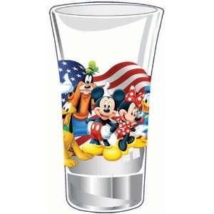 Disney Mickey Minnie Goofy Donald Pluto Shot Glass