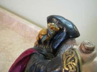 Pena 1986 Merlin Statue WIZARD Baby Dragon RETIRED Sculpture