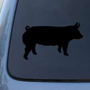 SILHOUETTE   Pig   Vinyl Car Decal Sticker #1523  Vinyl Color: Black