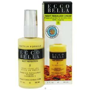 Ecco Bella Night Rebuilder Cream For All Skin Types 2 oz