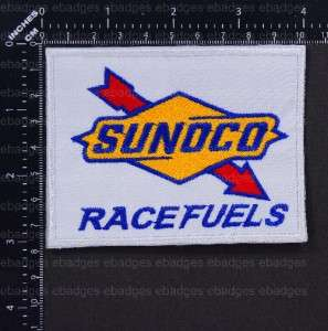 B243 Iron On Embroidery Patch Sunoco Race Fuel Badge