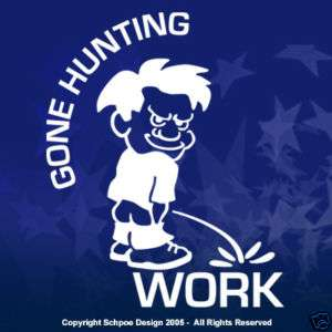 Gone Hunting window decal hunt deer duck sticker